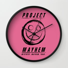 Project Mayhem Wall Clock