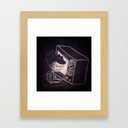 Vintage TV Framed Art Print