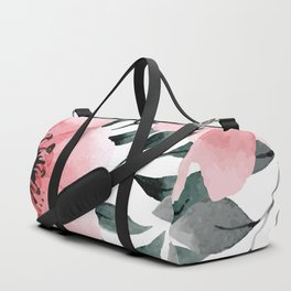 Big Watercolor Flowers Duffle Bag