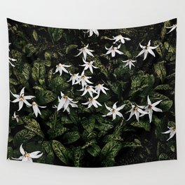 White Fawn Lilies; Open Your Heart Wall Tapestry