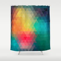 labyrinth Shower Curtains featuring Labyrinth by sophtunes