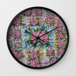 rose bouquets Wall Clock