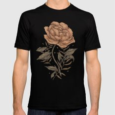 Peony and Ferns Mens Fitted Tee 2X-LARGE Black