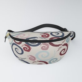 Red and Blue Swirls Fanny Pack
