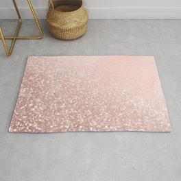 Rose Gold Sparkles on Pretty Blush Pink VI Rug