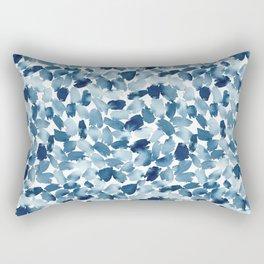Blue Abstract Watercolor Rectangular Pillow