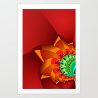 time for fractals -7- curtain Art Print