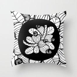 Black & White Cashew Apple Throw Pillow