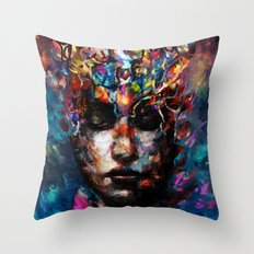 fractured but whole Throw Pillow