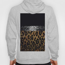 ANIMAL PRINT CHEETAH LEOPARD BLACK WHITE AND GOLDEN BROWN Hoody