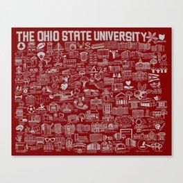 Ohio State University Map Canvas Print