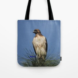 Red-Tailed Hawk on Watch at Foothill and B Street Tote Bag
