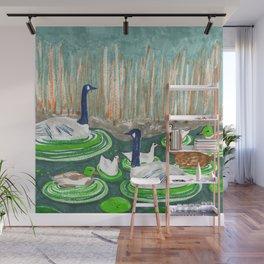 Water Friends drawing by Amanda Laurel Atkins Wall Mural