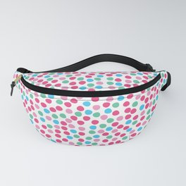 Bright geometric tiny polka dot seamless pattern. Fanny Pack