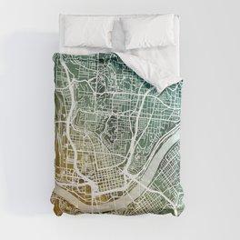 Cincinnati Ohio City Map Comforters