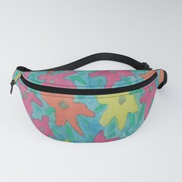 Tropical Watercolor Flowers Fanny Pack