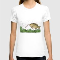 fishing T-shirts featuring Fishing by Eugenia Hauss