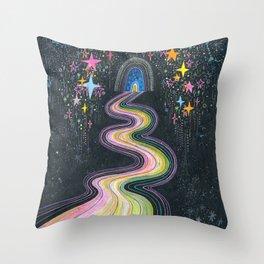 New path reveals itself Throw Pillow