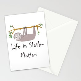 Life in Sloth-Motion Sloth on a Branch Stationery Cards