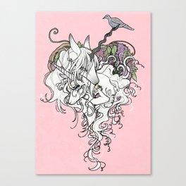 Unicorn Family Canvas Print