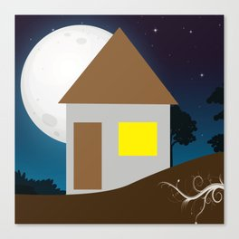 Dark Night in Home Canvas Print