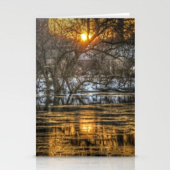 Berlin winter sunset Stationery Cards