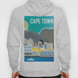 Cape Town, South Africa - Skyline Illustration by Loose Petals Hoody