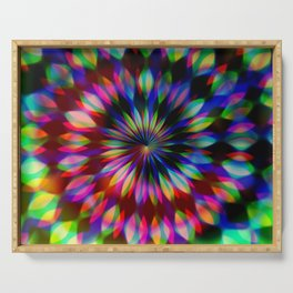 Psychedelic Rainbow Swirl Serving Tray