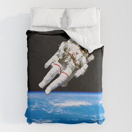 Astronaut Bruce McCandless Floating Free Comforters