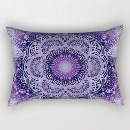 Lilac Boho Brocade Mandala Rectangular Pillow