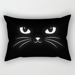 Cute Black Cat Rectangular Pillow
