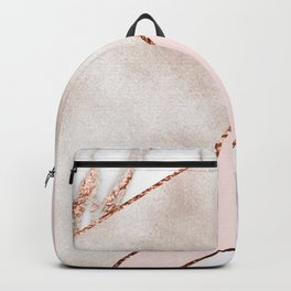 Spliced mixed rose gold marble Backpack