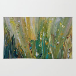 Fluid Nature - Windswept Cornfield - Abstract Acrylic Art Rug