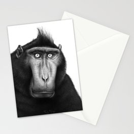 Crested macaque Stationery Cards
