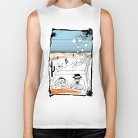 fear and loathing Biker Tanks featuring Fear and Loathing in Albuquerque II by Evan
