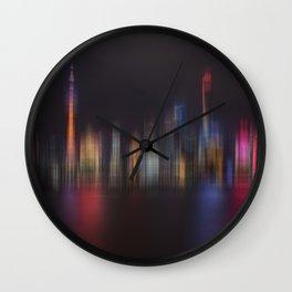 Shanghai Skyline III Wall Clock