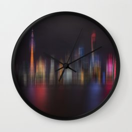 Shanghai Skyline III Wall Clock