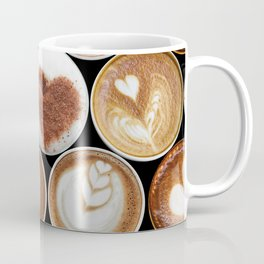 Latte Polka Dots in Black Coffee Mug