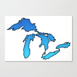 Great Lakes in Blue Canvas Print
