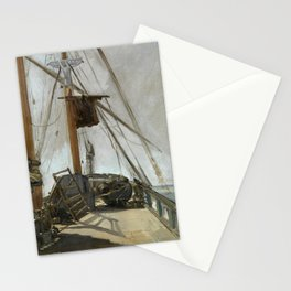 Édouard Manet - The ship's deck Stationery Cards