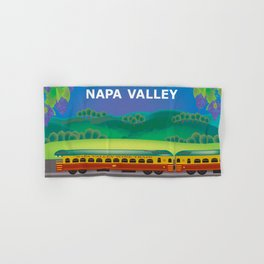 Napa Valley, California - Skyline Illustration by Loose Petals Hand & Bath Towel