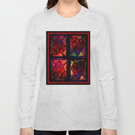 Mi Corazon (My Heart) - Symmetrical Art 3 Long Sleeve T-shirt