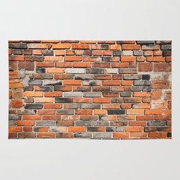 Black red brick wal Rug
