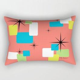 Living Coral Retro Inspired Rectangular Pillow
