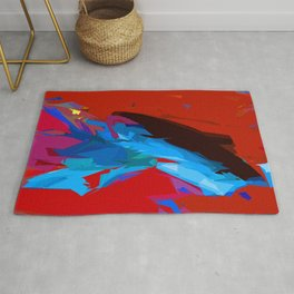Red and Blue Devine Rug