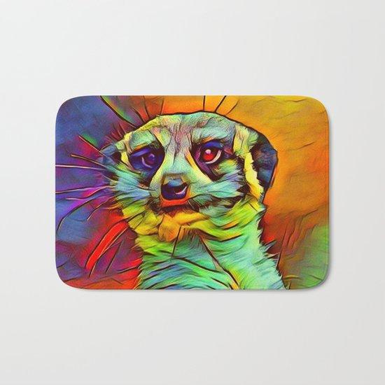 Animal ArtStudio -funky meerkat Bath Mat