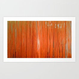 ORANGE STRINGS Art Print