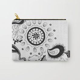Black and White Boho Carry-All Pouch