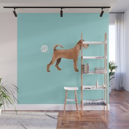 Irish Terrier farting dog cute funny dog gifts pure breed dogs Wall Mural