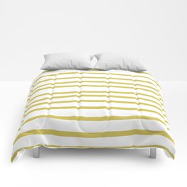 Simply Drawn Stripes Mod Yellow on White Comforters